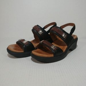 Ariat Braided Leather Slingback Sandals sz 8